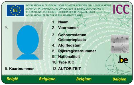 icc; vaarbewijs; stuurbrevet